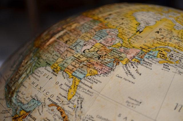 Globus Weltkarte