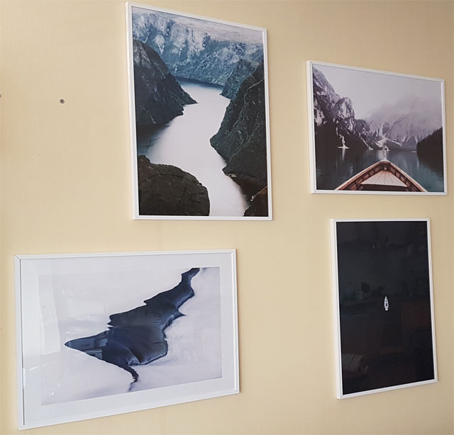 Bilderwand Wohnzimmer Nature