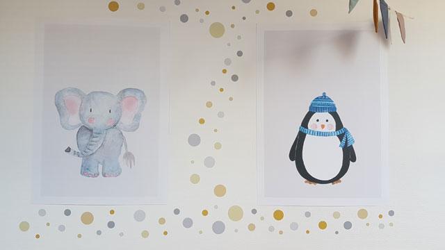 Kinderzimmer Poster Tiere
